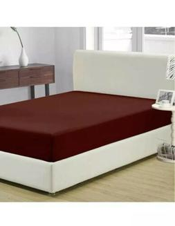 Mellanni Fitted Queen Sheet: Burgundy