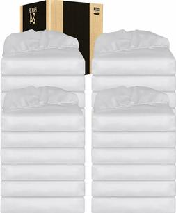 White Fitted Sheets Deep Pocket Brushed Velvety 6 Piece Utop