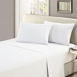 Mellanni Flat Sheet King White Brushed Microfiber 1800 Beddi