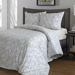 LikeaHome Floral Cotton Duvet Cover Set & Fitted Sheet  - 10