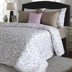 LikeaHome Floral Duvet Cover Set & Fitted Sheet  Cotton Sate