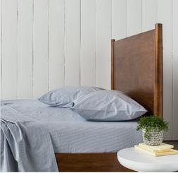 Parachute FULL/QUEEN  Percale Top Sheet in Pebble Pinstripe