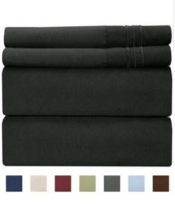 Full Size Sheet Set - 4 Piece Set - Hotel Luxury Bed Sheets