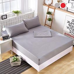 grey sheets set queen brushed