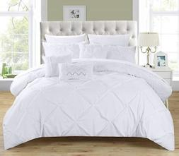 Chic Home 10 Piece Hannah Pinch Pleated, ruffled and pleated