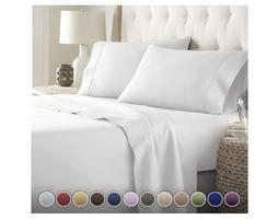 HC Collection Bed Sheets Set HOTEL LUXURY 1800 Series Platin