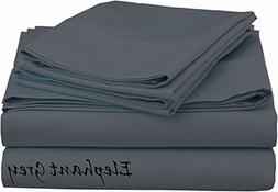 Heavy Weight Egyptian Cotton, Hotel Classic Grey Solid 4 Pie