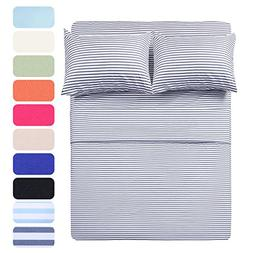 Homelike Collection 4 Piece Bed Sheet Set with 2 Pillow Case