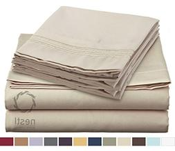 HIGHEST QUALITY Bed Sheet Set, #1 on Amazon, Queen Size, Bei