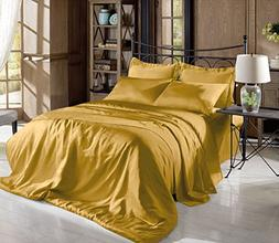 Hight Thread Count Solid Color Soft Silky Charmeuse Satin Lu