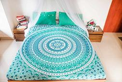 Hippie Mandala Tapestry Bedding with 2 Pillow Covers, Bohemi