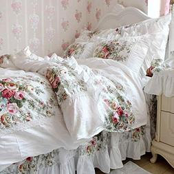 FADFAY Farmhouse Bedding Duvet Cover Set Elegant And Shabby