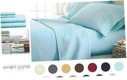 Hotel Collection Luxury Soft Brushed Bed Sheet Set, Hypoalle