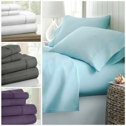 Hotel Quality Egyptian Comfort 4-Piece Bed Sheet Sets - 4 Lu