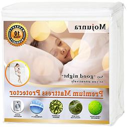 Mojunra Hypoallergenic Waterproof Mattress Protector Fitted
