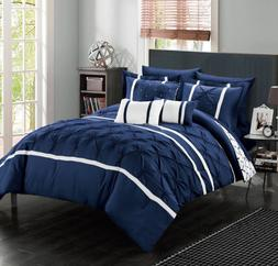 king or queen comforter set bedding navy