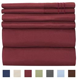 King Size Sheet Set - 6 Piece Set - Hotel Luxury Bed Sheets