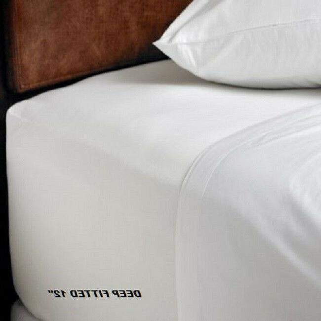 1 new queen size white hotel fitted