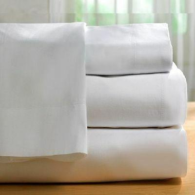 1 piece new white sheet 300 thread count cotton blend made i