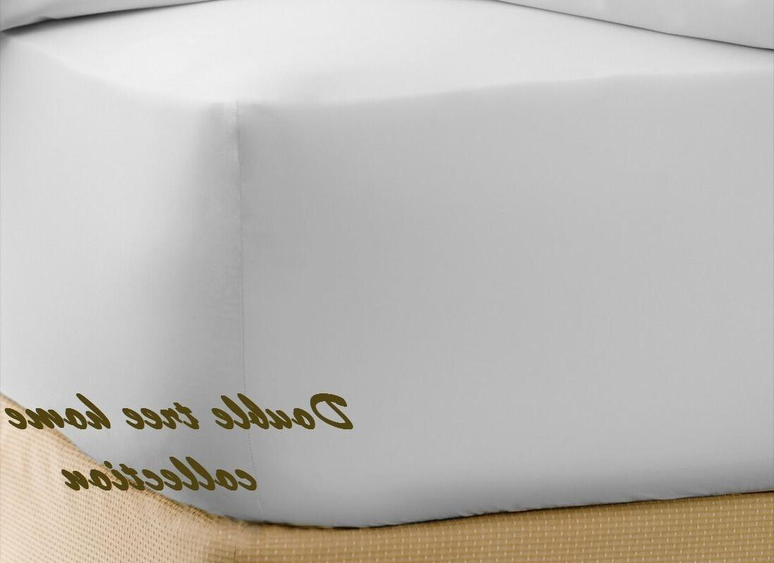 1 queen t200 white fitted sheet double