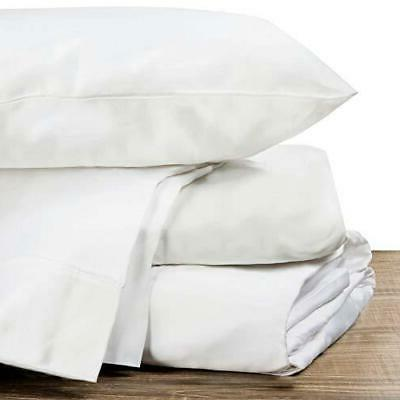 100% Cotton Sheets Size Count Queen White
