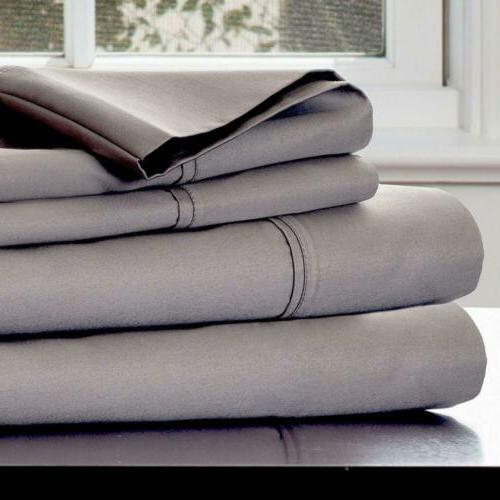 Lavish Home 1000 Thread Count Cotton Sateen Sheet Set, Queen