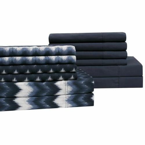 Brooklyn Loom Sheet Set in Chevron Blue