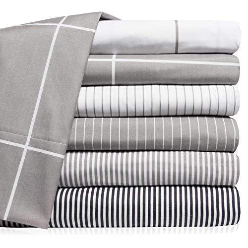 Sweet Home Collection Deep Set Cases, Classic Stripe Gray
