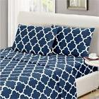 1800 collection designer bed sheet set wrinkle