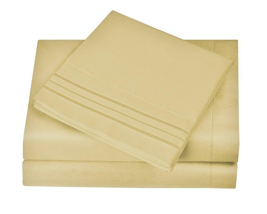 1800 series luxury microfiber sheet set egyptian