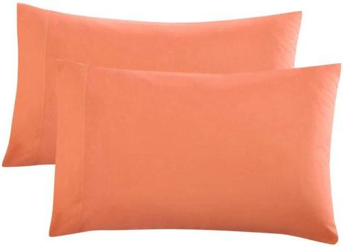 2 Piece Bed Sheet Pillowcases Queen King Brushed Microfiber,