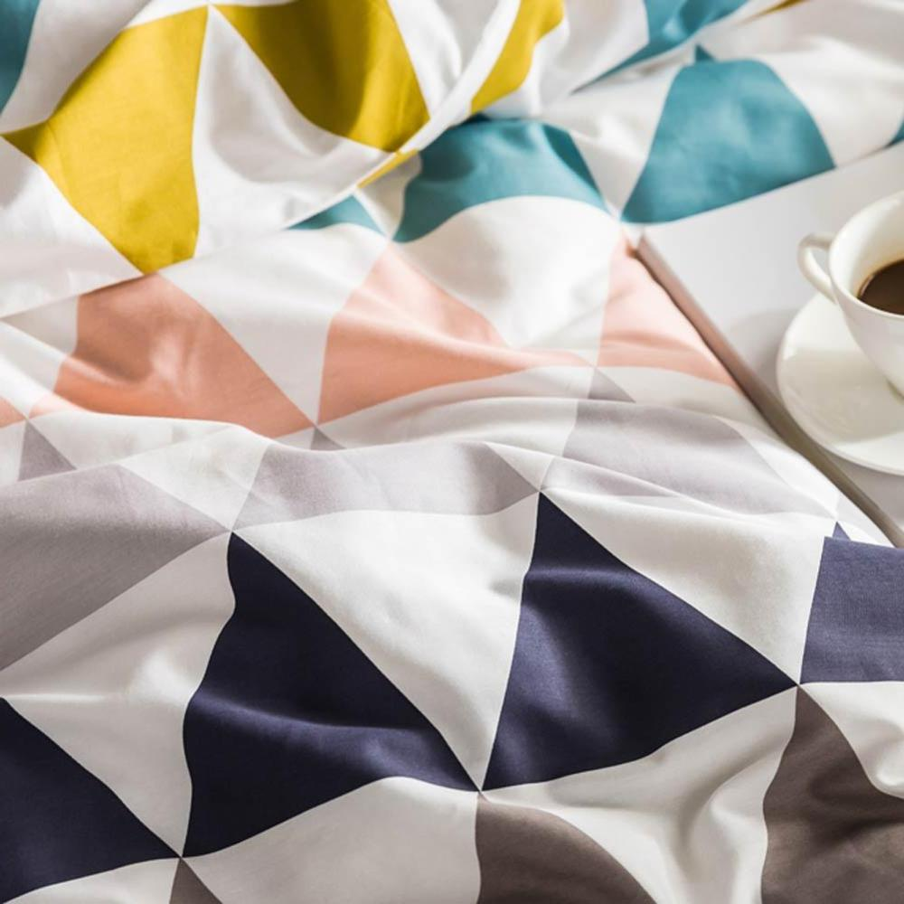 2019 Scandinavian Colorful Duvet Cover Flat Fitted Hypoallergenic <font><b>Queen</b></font>