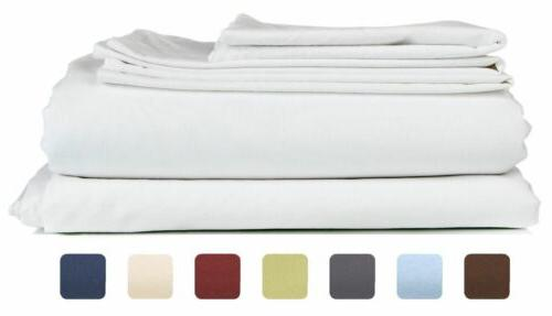 6 piece set hotel luxury bed sheets