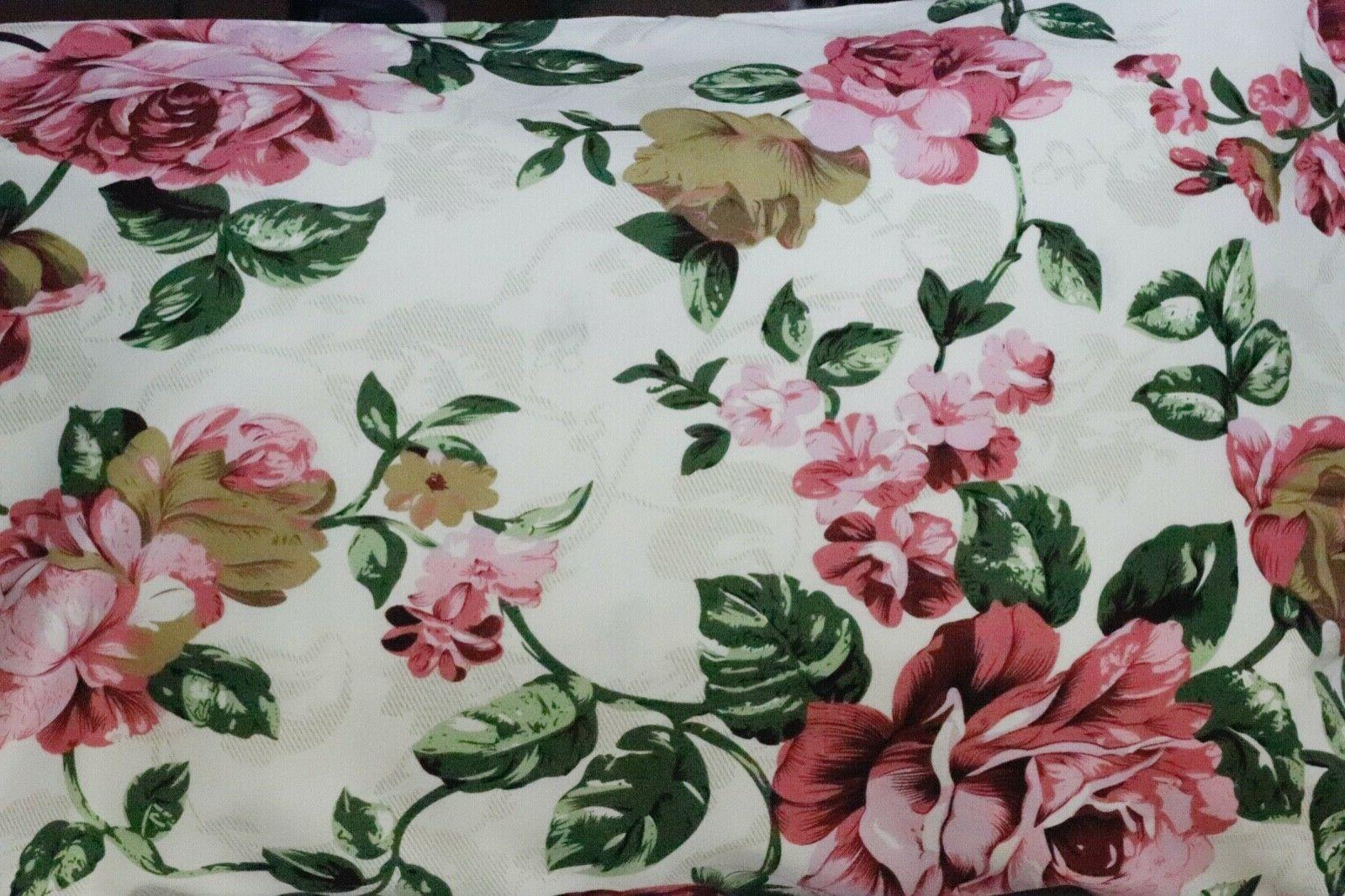 4 Set Flat/Fitted/Pillowcases Pink Rose on