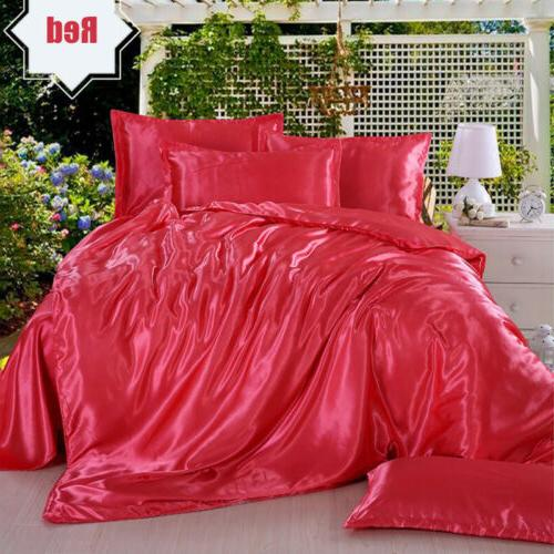 4 PCS Blend Bedding Sets Cover Pillowcase Twin King