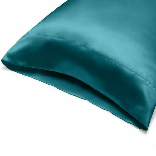 4-Piece Bed Sheet Satin Silky Full King Teal