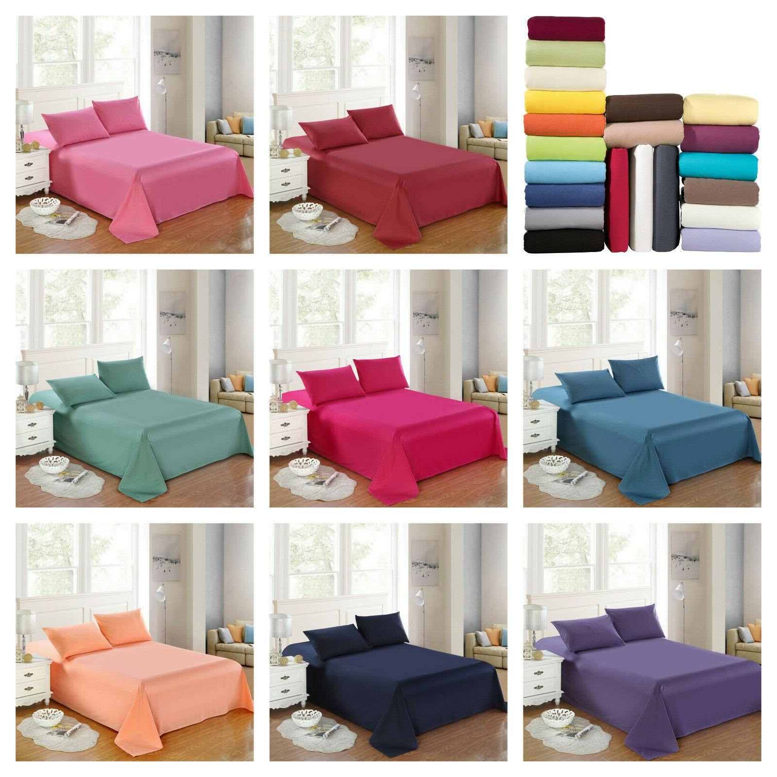 4 piece fitted bed sheet set 1800