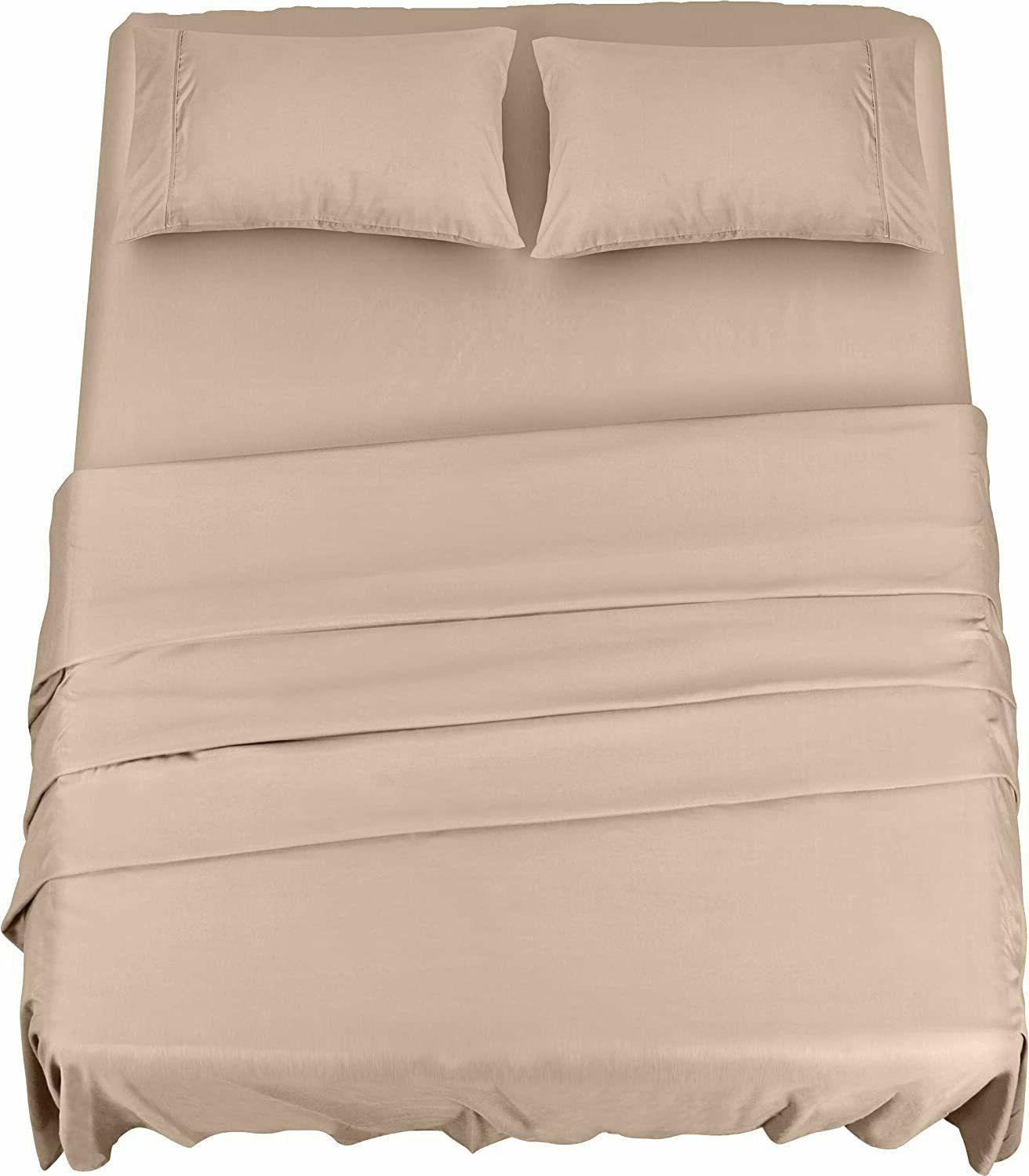 Soft Brushed Microfiber Piece Sheet with Bedding