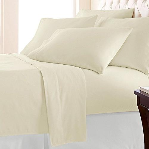400 6 Piece Queen Set Pillow Long Staple Weave Bed Deep 6 pc Queen