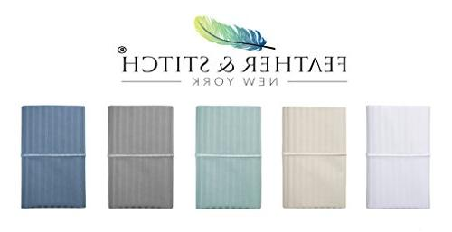 Thread Count Sheet Stripe Sheets, Deep Pockets,Hotel Collection,Luxury Bedding Super 100%