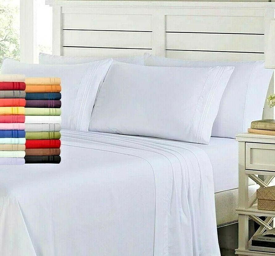 Egyptian 1800 6 Bed Set Deep Sheets
