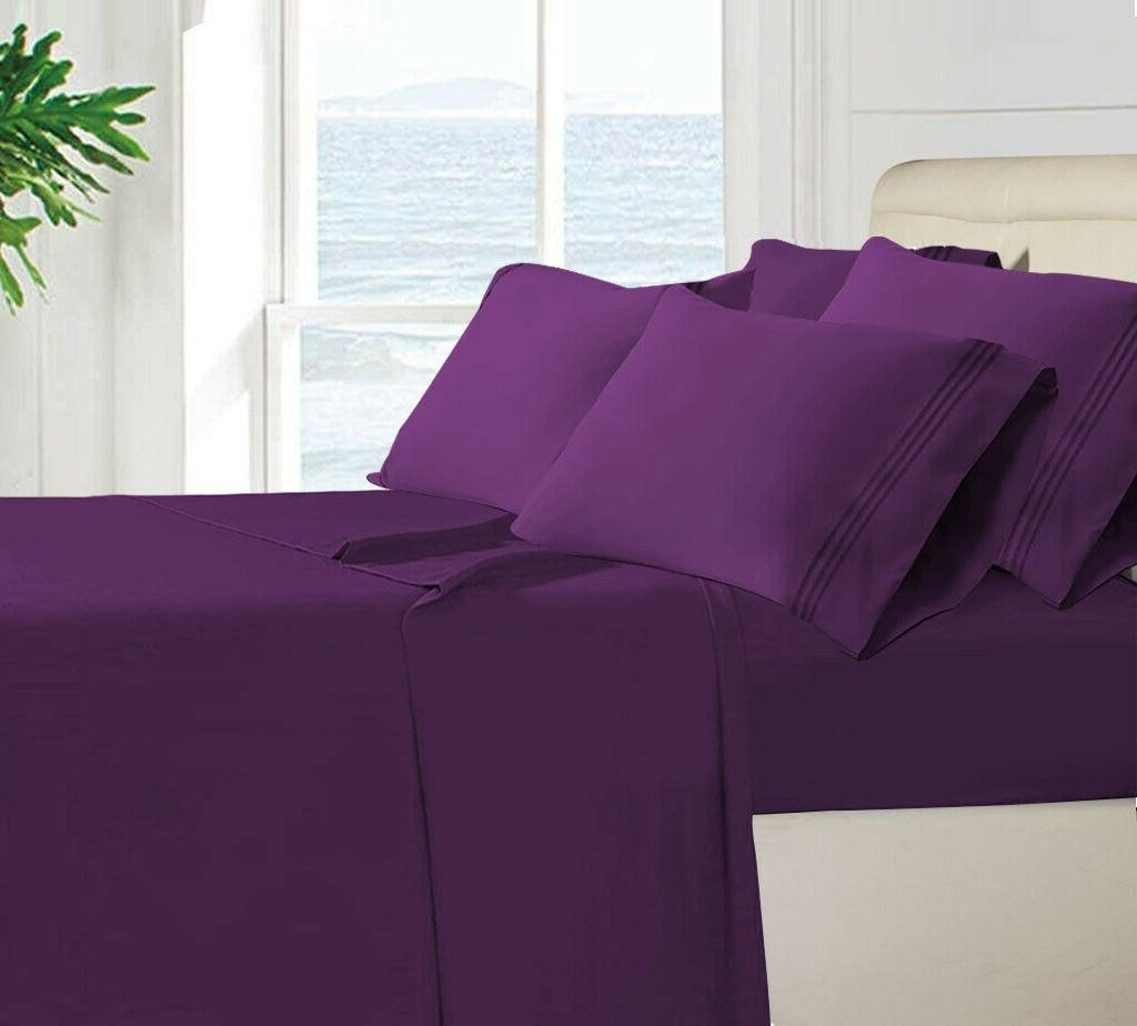 1800 count 6 piece bed sheets set