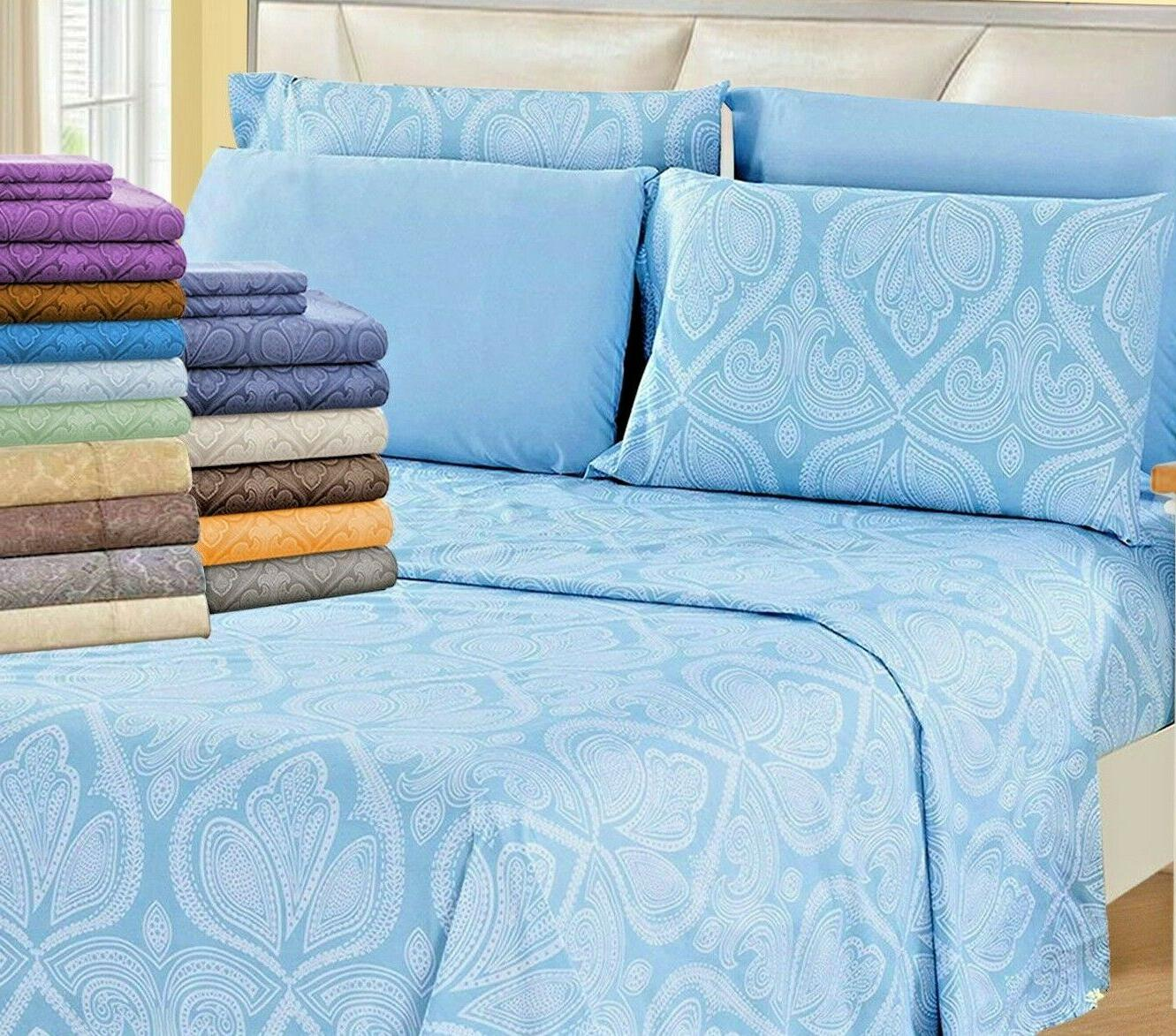 deep pocket bed sheets 6 piece set