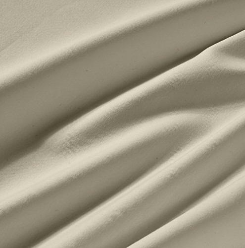 600 Count 100% Taupe Long-staple Sheet Bed, Mattress Pocket, Sateen Sheets and