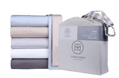 600 Queen Size Cotton Piece Bedding Set with Deep