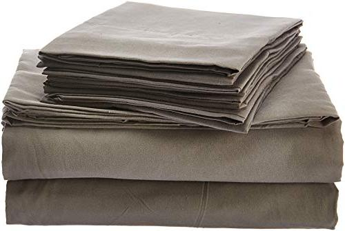 Bed Grey - 1500 Count Brushed Queen Sheet Set Bedding - CASES, GREAT Queen, Gray