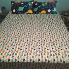CLOTHKNOW Kids Fitted Sheet Queen Dinosaur Colorful 100 Cott