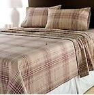 Classics NEW Khaki Red Plaid Heavy Weight Cotton Flannel Que