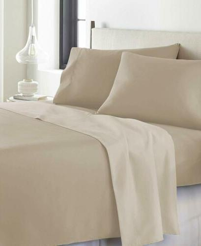 AURAA Comfort Reversible Pc Sheets Luxury Taupe
