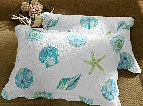 Beach Reversible Set Queen Size Conch Starfish
